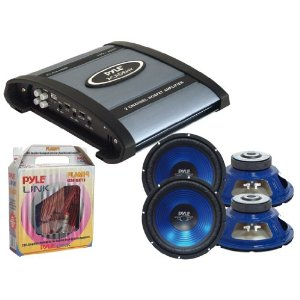 Pyle Mega Amplifier/Subwoofer/Installation Package for Car/Truck/SUV