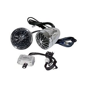 PYLE PLMCA30 Motorcycle Mount Amplified 200 Watt x 2 Stereo Sound System with Dual Handlebar Mount Speakers