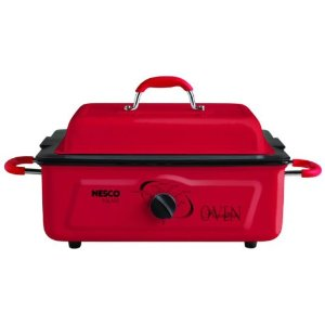 Nesco 4805-12 5-Quart Electric Roaster with Nonstick Cookwell, Red