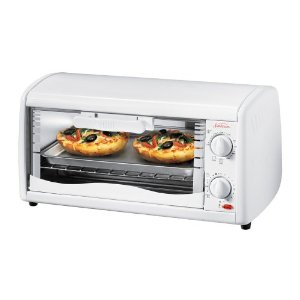 Sunbeam 6198 4-Slice Toaster Oven, White