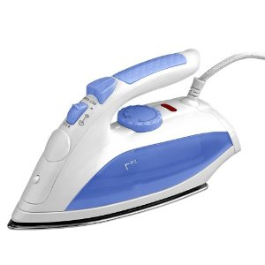 Kalorik DA-14492 1200-Watt Steam Iron, White and Blue
