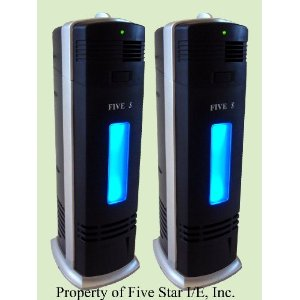 2 units of FIVE STAR FS8088 Ionic Air Purifier Pro Ionizer Cleaner with UV