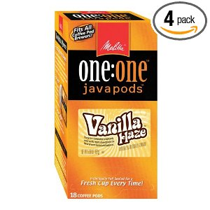 Melitta One:One Java Pods, Vanilla Haze Coffee, 18-Count Pods (Pack of 4)