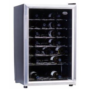 Sanyo SR-4705 47-Bottle Wine Cooler, Black and Stainless Steel