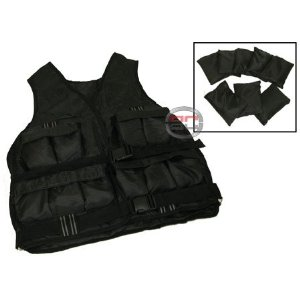 New 40 LB Adjustable Exercise Weight Vest Fitness Training Weighted Vest