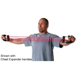 Lifeline USA Chest Expander with Three R3 (30lbs) Cables & Extra Set of R4 Cables