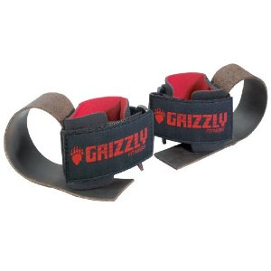 Grizzly Fitness Deluxe Leather Lifting Straps