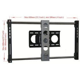 VideoSecu Articulating tilted Wall Mount for 47 50'' inch Lcd Plasma Flat panel tv Fits Philips 47PFL3603D-27 47PFL5603D-27 47PFL9732D-37 47PFL5422D-37 47PFL7603D-27 47PFL7403D-27 47PFL7422D 50PF7321D/37 50PF9630A/37 50PF9830A/37