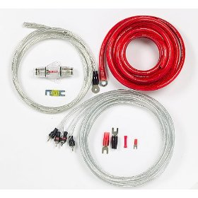 StreetWires Power Station PSK04Ri 4-gauge amplifier wiring kit with patch cable -- red power/silver ground