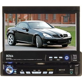 Boss Audio BV9980RDS 7-Inch In-Dash DVD Receiver with Motorized Flip-Out Widescreen/Touchscreen Monitor