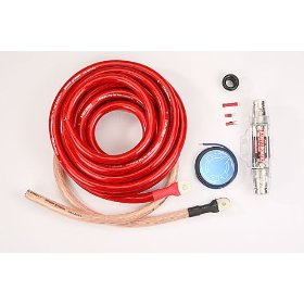 StreetWires PSKA0R Power Stream Amp Kit - Power cable kit - 1/0 AWG - red
