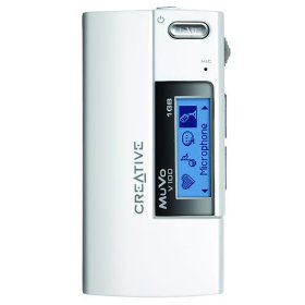 1GB Muvo V100 MP3 Player White/black Eng/(Reconditioned)