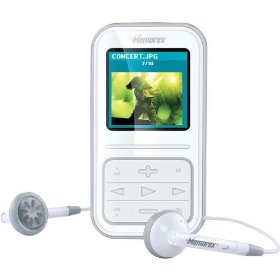 Memorex MMP8590-WHT - Digital player / radio - flash 2 GB - WMA, MP3, protected WMA (DRM 10) - display: 1.5