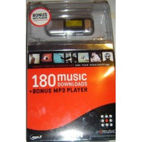 512MB MP3 Player + 1 Year Subscription to eMusic