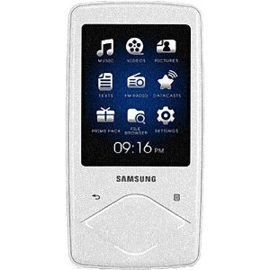 Samsung Q1 8 GB Video MP3 Player with Lighted Touchpad (White)