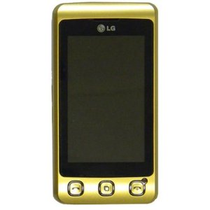LG KP500 Cookie Unlocked Phone with 3.2 MP Camera, Quad Band GSM, TFT Resistive Touchscreen, and Accelerometer Sensor for Auto-Rotate--International Version with No Warranty (Genuine Gold)