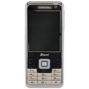 Duet D888 Unlocked Phone with Dual SIM, Camera, GPRS, WAP, GMS, MicroSD Slot, and Video Player--International Version with Warranty