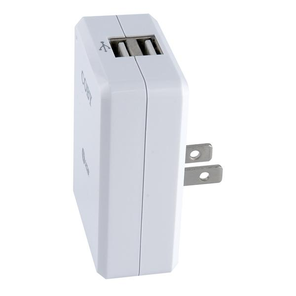 Coby ca81 ac adaptor dual usb charger for mp3players