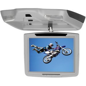 Power Acoustik PMD-103CM GR 10.4-Inch Overhead Monitor with Built-in DVD Player