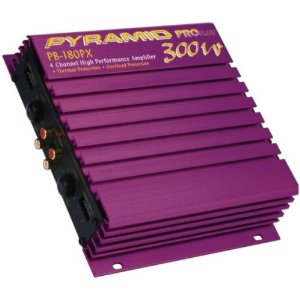 Pyramid PB180PX 4-Channel 300-Watt Pro Plus Amplifier