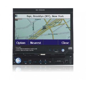 XO Vision X403BT 7-Inch Motorized 16:9 Touchscreen Monitor with DVD, DivX, DVD-R, CD, and MP3 Player
