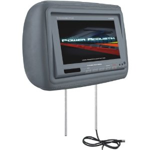 Power Acoustik H-8GRDK Replacement Headrest with 8.8-Inch Video Monitor (Dark Gray)