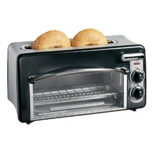Hamilton Beach 22708H Toastation 2-Slice Toaster and Mini Oven, Black