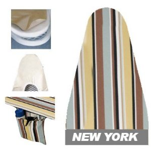 Ironing Board Cover & Pad One-Piece Ultra (54x14) New York Stripe - Household Essentials #7001-9