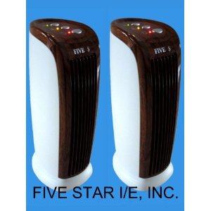 2 units of 13 inch FIVE STAR FS130 Ionic Air Purifier Pro Ionizer Cleaner with UV