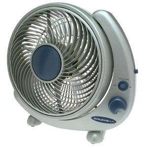Soleus Air FTY-25 10-Inch Wall Mountable Table Fan