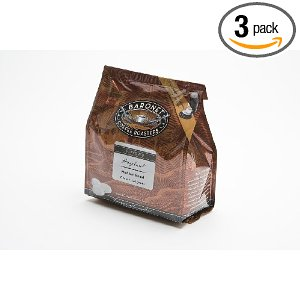 Baronet Coffee Hazelnut Medium Roast (140 g), 18-Count Coffee Pods (Pack of 3)