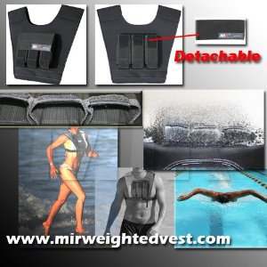 MIR Swimming Exercise Fitness Weight(weighted) Vest NEW
