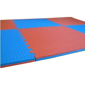 48 Sq. Ft. (3/4 Inch Thick, 12 Tiles, Double Sided + Borders) 'We Sell Mats' Anti-fatige Interlocking EVA Foam Flooring-each Tile 2' x 2' x 3/4