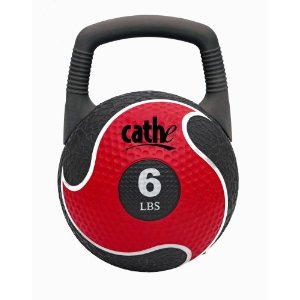 Fitness by Cathe 6-Pound 2 in 1 Power Medicine Ball And Kettlebell with DVD