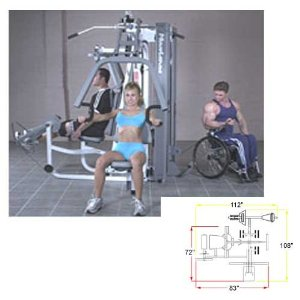 Maximus Fitness MX 3800 Multi Station Gym