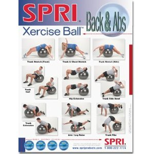 SPRI Back and Abs Xercise Ball Wall Chart