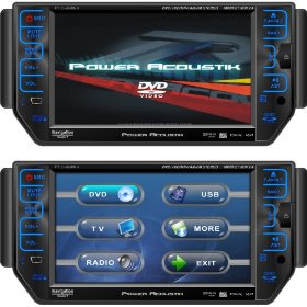Power Acoustik PTID-5850NR Detachable 5.8-Inch AM/FM Receiver Oversized Din with Razor Front Panel