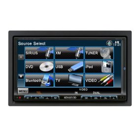 Kenwood DDX714 6.95-Inch Wide Double-DIN In-Dash Monitor with Built-in Bluetooth USB/iPod Direct Control/DVD Receiver