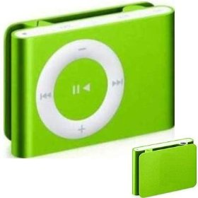 2.0GB GREEN Generic Brand Clip-On MP3 Player