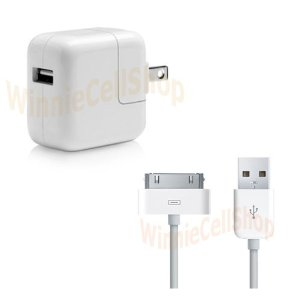 HOME / WALL CHARGER ADAPTER WITH USB DATA SYNC TRANSFER CABLE