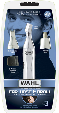 Wahl 5545 417 trimmer 3in1 3heads nose ear eyebrow