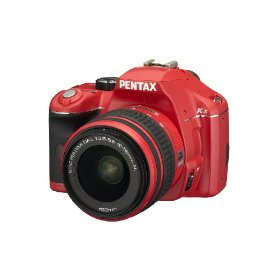 Pentax K-x 12.4MP Digital SLR with 2.7 inch LCD and 18-55mm f/3.5-5.6 AL Lens (Red)