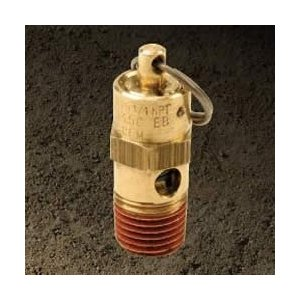 VIAIR VIAIR-92250 Safety Valve - 250 PSI Hi-Temp Rated .25 Inch Male NPT