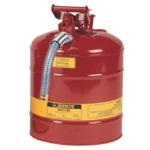 Justrite Safety Gas Can - 5-Gallon Capacity, Type II