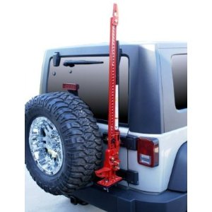 Rampage Products 86612 07-10 Jeep Wrangler JK Hi-Lift Jack Tailgate Mount