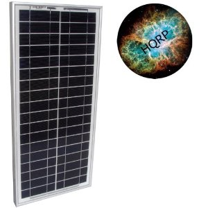 HQRP 20W Mono-crystalline Solar Panel 20 Watt 12 Volt in Anodized Aluminum Frame plus HQRP Mousepad