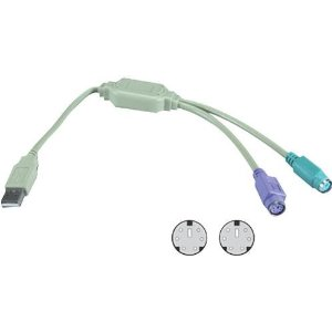 QVS USB-PS2Y USB to Dual PS/2
