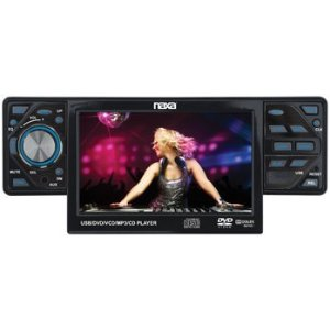 Naxa NX-687 Car Audio In Dash CD DVD Player with 4.3 Inch Touch Screen