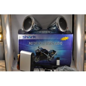100 w motorcycle speakers + amp + radio + usb + remote