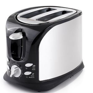 BLACK & DECKER T1900BDC Distinctions Exclusive Collection Brushed Stainless Steel 2-Slice Toaster